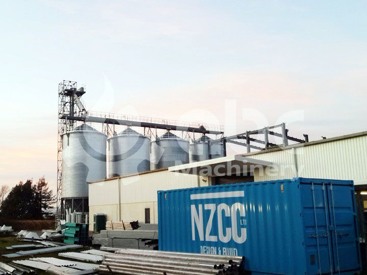 1000 ton wheat silo project build for 160 ton per day wheat flour mill