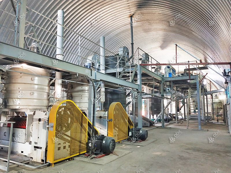 automatic commercial oilseed extraction plant