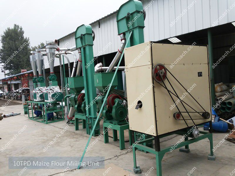 10ton maize flour milling machine for small business plan