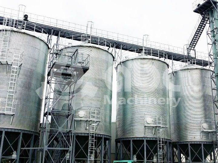 the capacity of each wheat silo is 250 ton