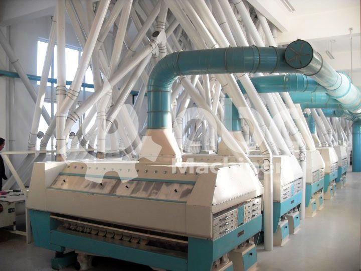 purifier of the wheat flour mill project - complete and automatic flour milling factory