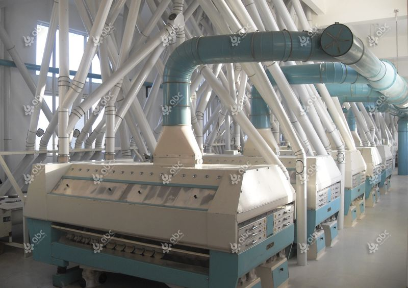 large scale wheat flour millling plant