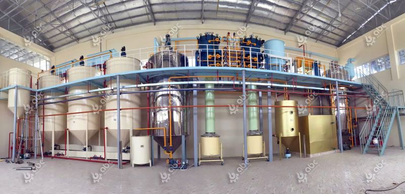 30 ton/d complete coconut oil refining plant layout design