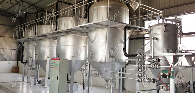 5 ton mini oil refinery plant for coconut oil factory