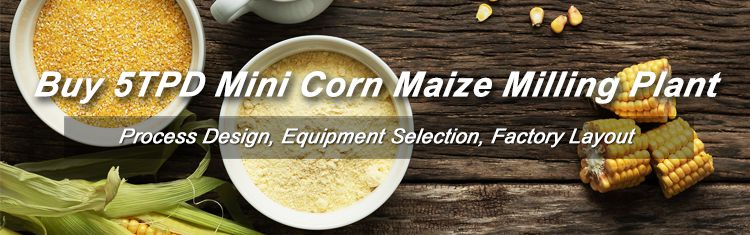 5TPD Mini Corn/Maize Flour Milling Plant Setup in USA