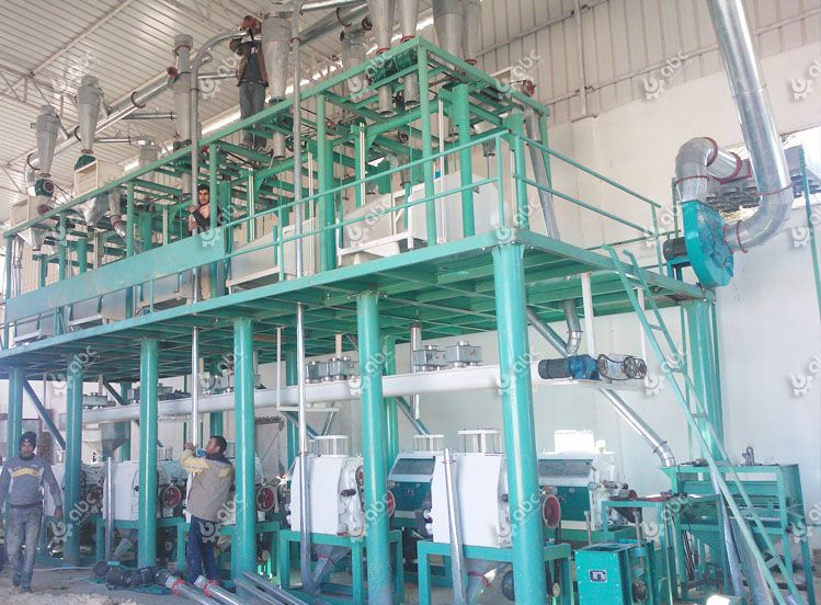 60tpd medium size wheat flour mill factory installation