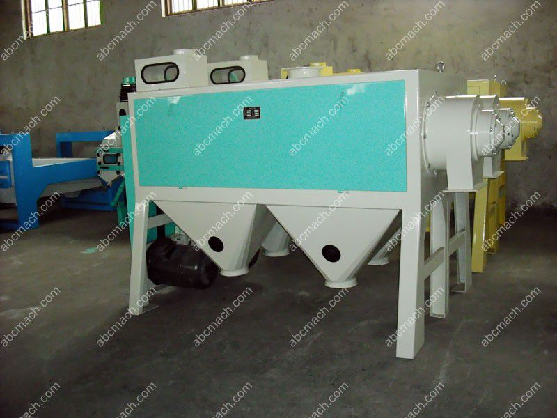cleaning machine in flour milling process