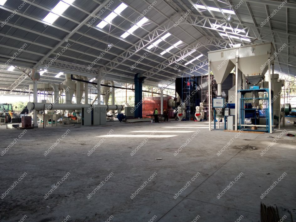 wood pelletizing line in Chile