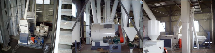 animal feed processing machinery included in the project