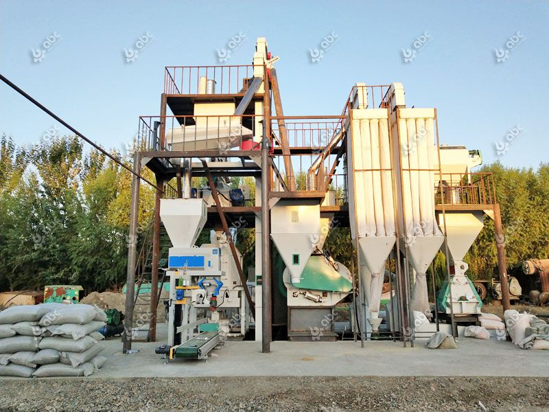 low cost animal feed production line