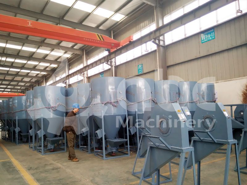 animal feed storage silo in small scale feed production line