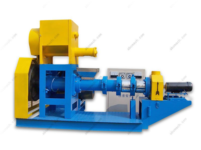 aquatic food extruder for producing fish and pet feed