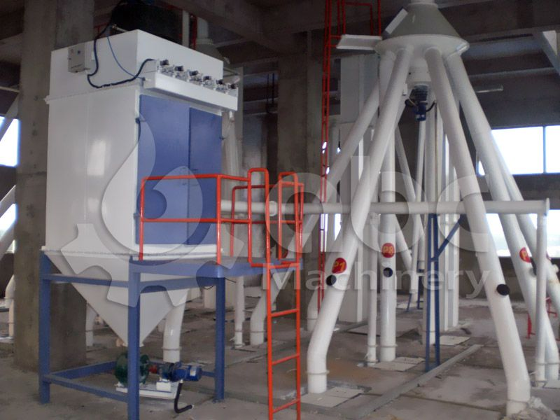 batching equipment of this feed milling workshop