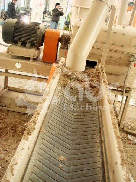 belt conveyor in the biomass plant