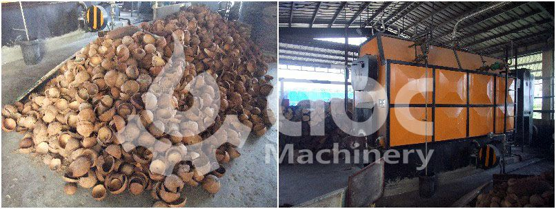 biomass burner of the crude coconut oil refining plant