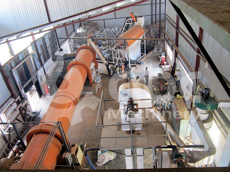 drying system of the complete biomass pellets production line