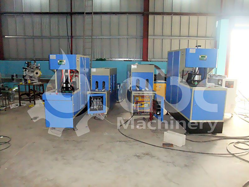 bottle blowing machine included in the production line
