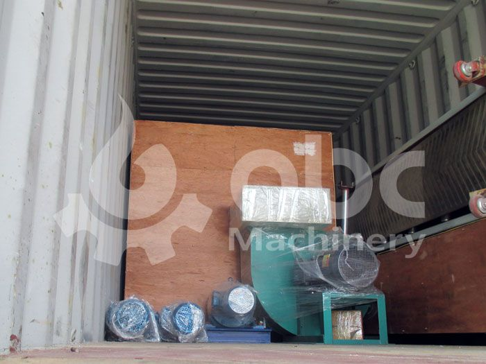 biomass briquettes manufacturing machine in container