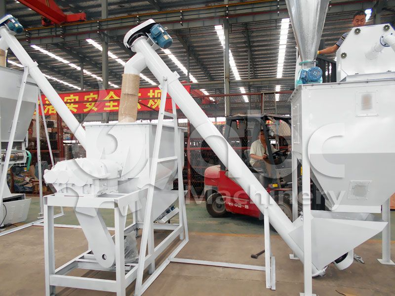 mixing process of cattle feed making line