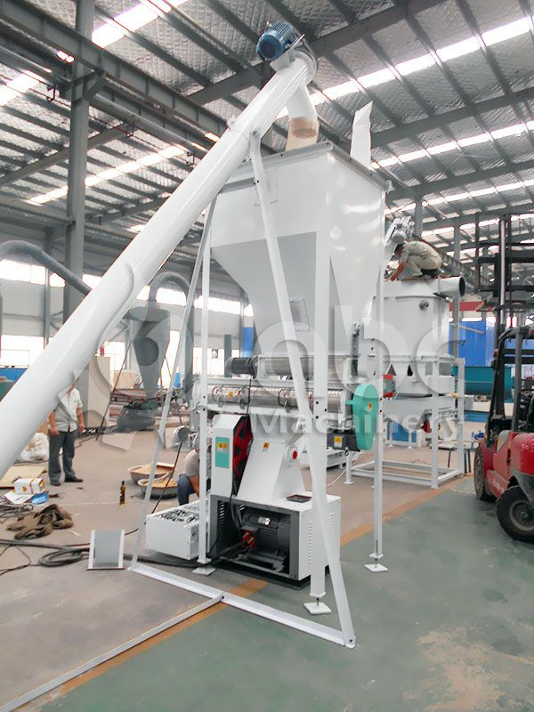 ring die cattle feed pellet press machine of the small feed making production