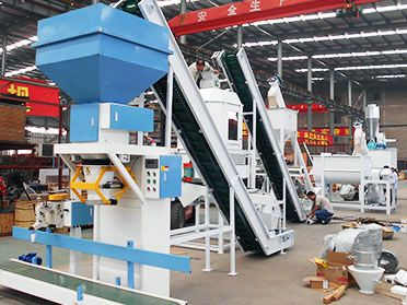 2 ton/h Cattle Feed Processing Machine Line