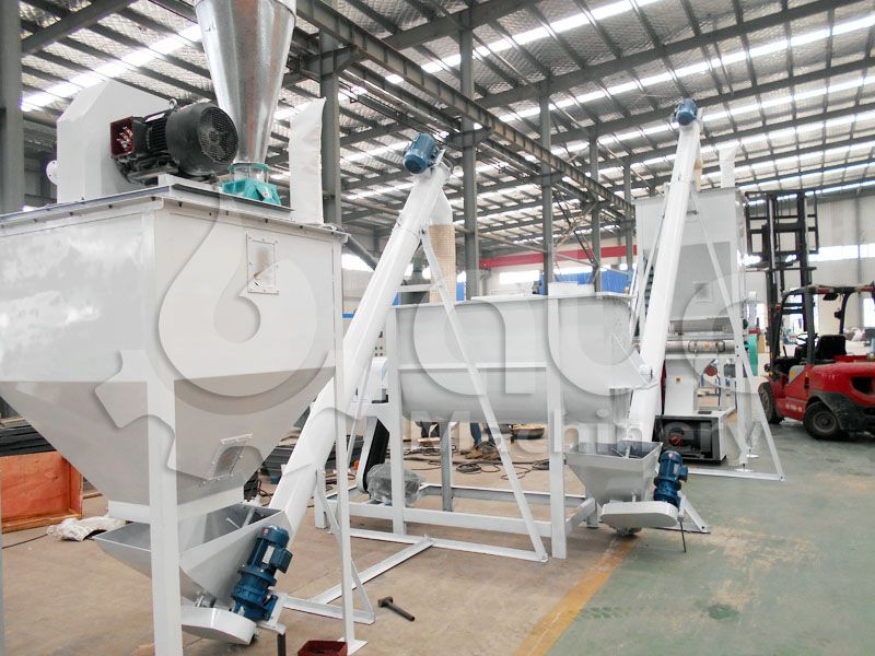 commercial medium scale sheep and cattle feed producing line