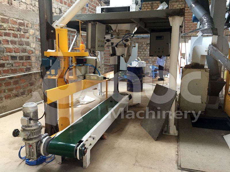 chicken feed bagging/packing machine included in the project