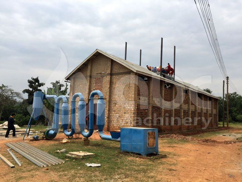 chicken feed manufacturing plant under construction