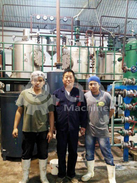 clients and project manager of the oil refining production line