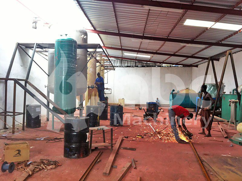 coconut copra oil refinery mill  construction