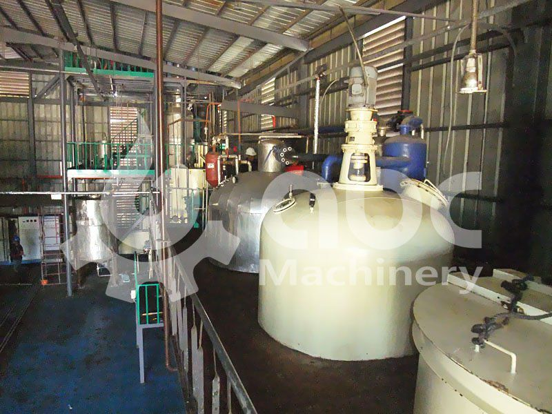 coconut oil refining factory layout design