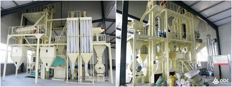 medium scale complete animal feed processing equipment