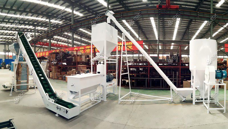 build a complete poultry feed line for manufacturing feed pellets