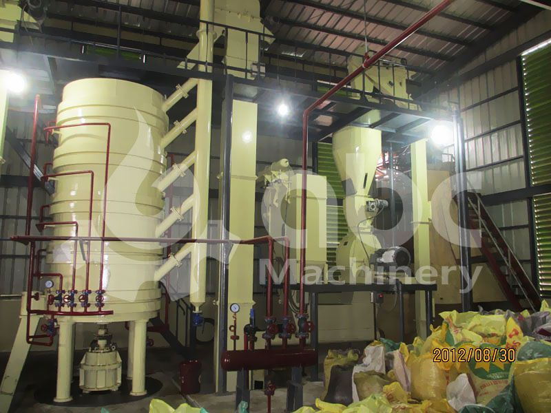 cooking machine in the oilseed crushing plant