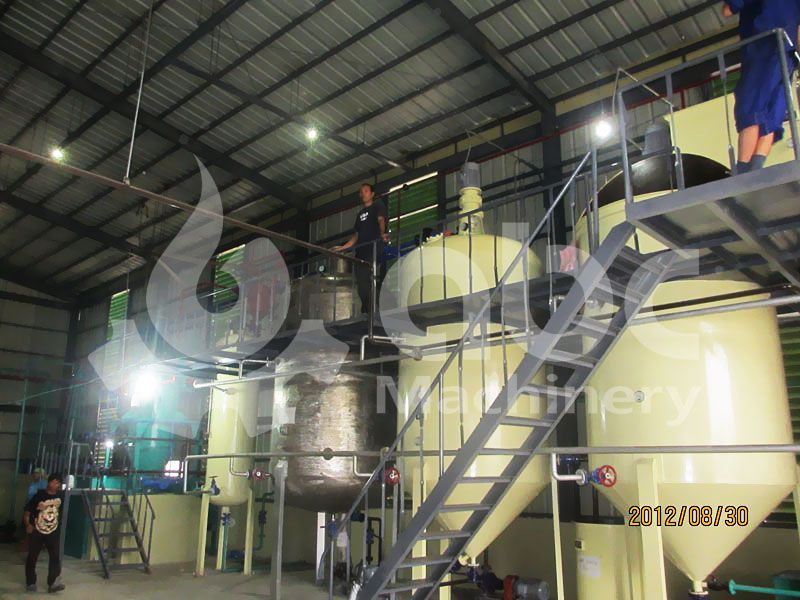 copra oil refinery equipment in the oil processing line
