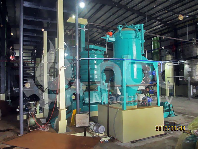 copra coconut oil pressing refinery machine