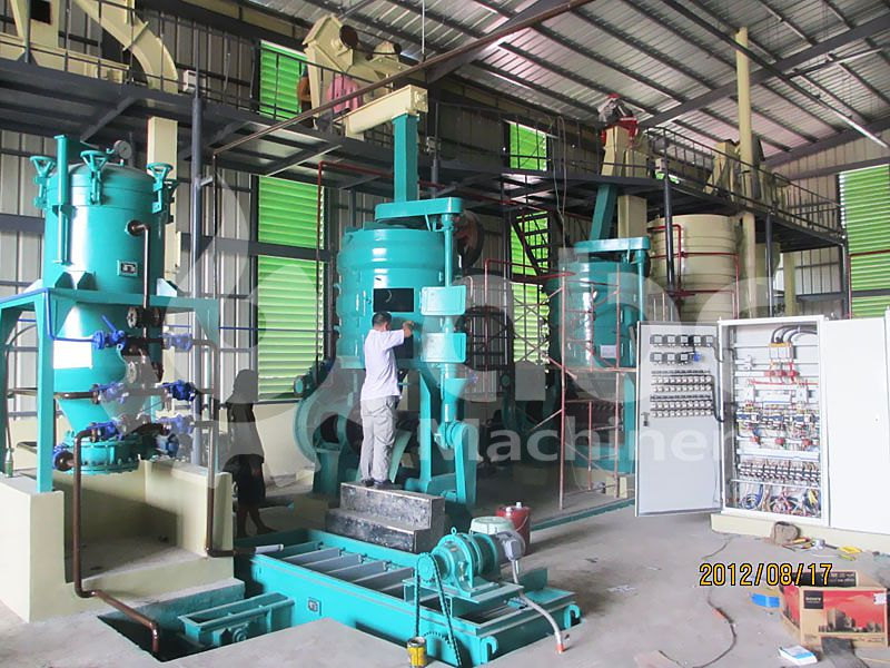 coconut copra oil pressing machines in the oil mill