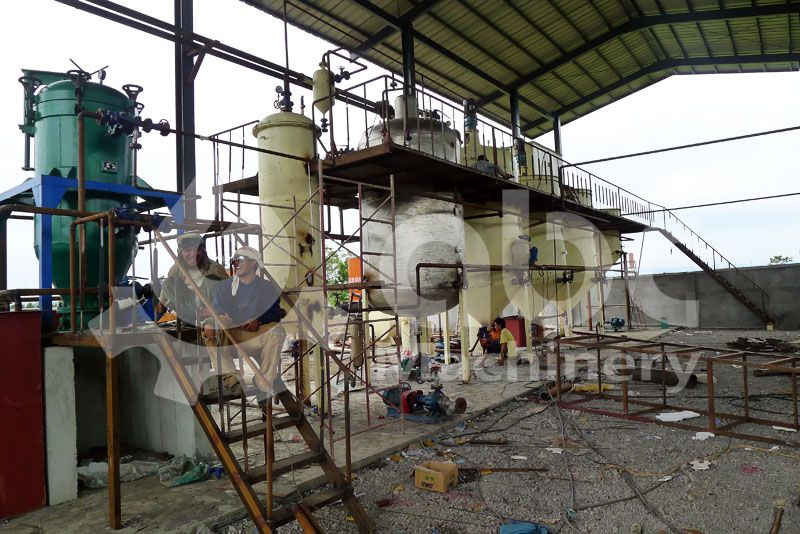 copra oil refning equipment in the oil producing mill