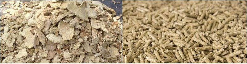 make corn germ cake feed pellets for cow, horse, sheep