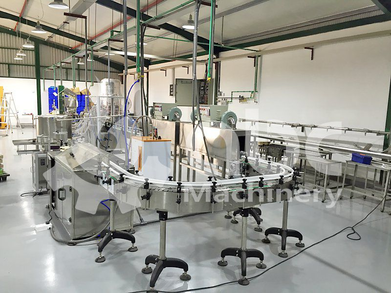 complete and automatic edible oil filling production line