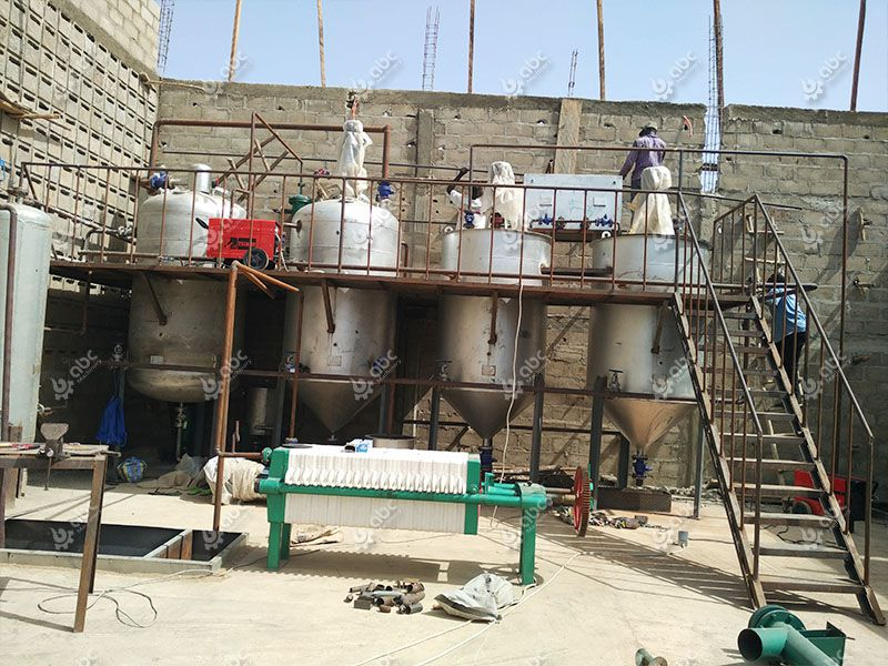 edible oil refining section