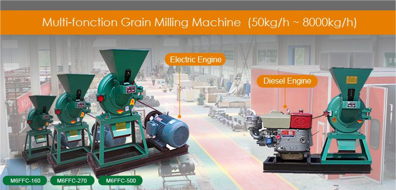 electric diesel engine grain milling machines for sale