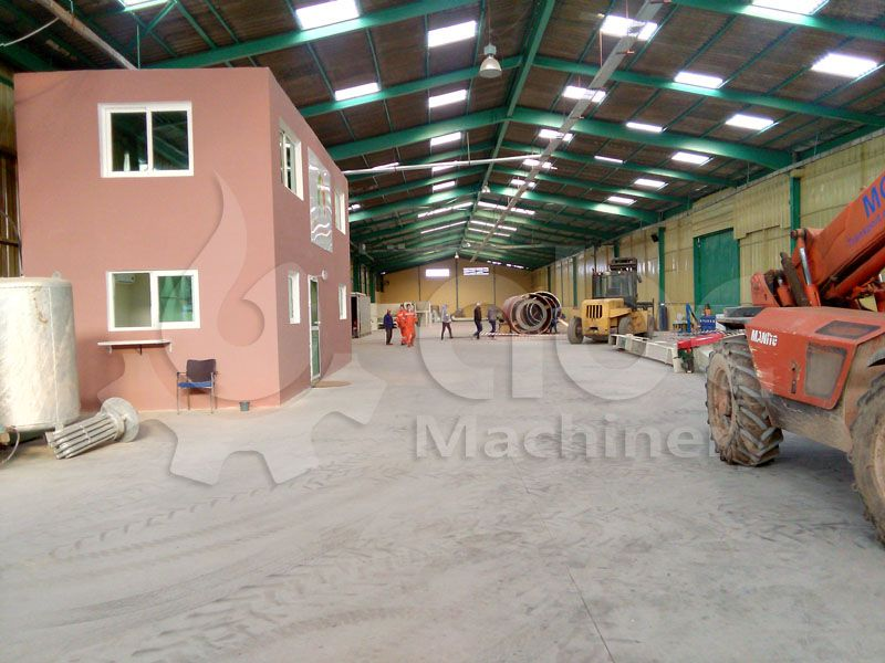 factory for the medium scale wood pellet plant project