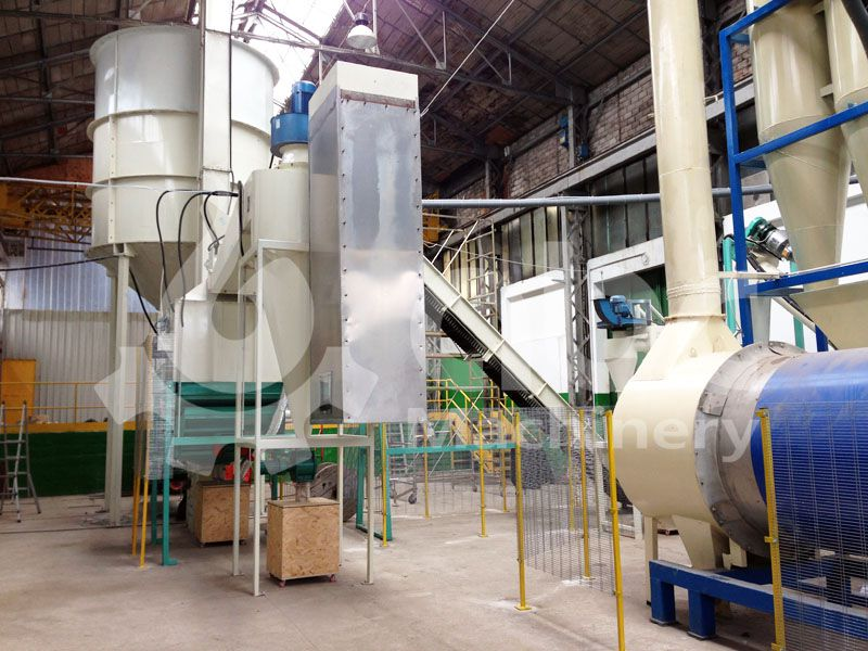 final pellets cooling and packing equipment of the pellet plant
