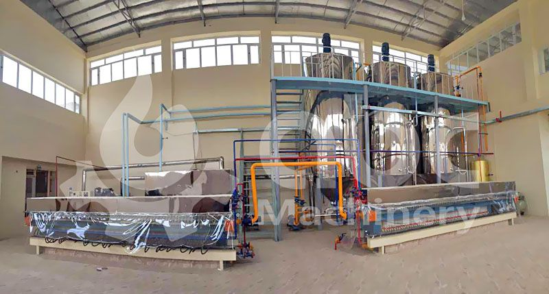 finished cotton seed oil fractionation plant