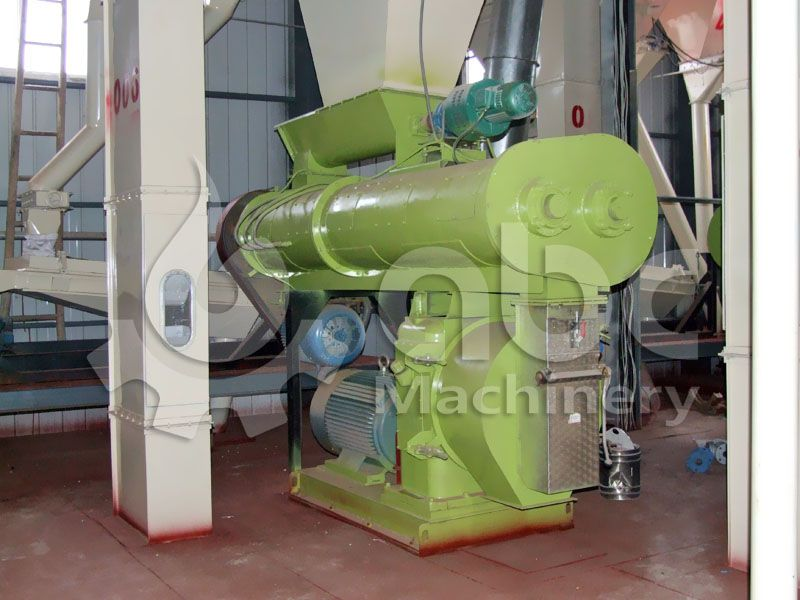 ring die type sinking fish feed mill machine for complete feed factory
