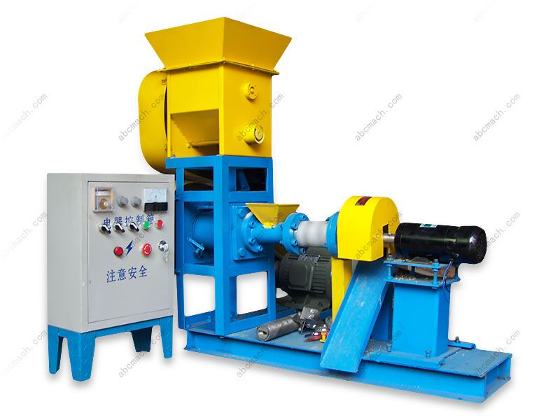 floating fish feed extruding machine for small production line