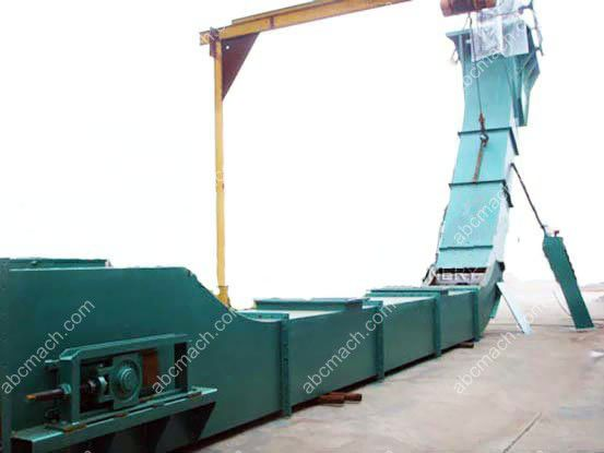 grain scraper conveying machine