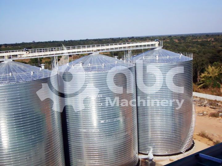 grain silo for feed production plant store corn maize soybean and other grain