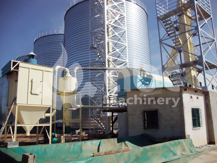 grain silo constructed for corn maize soybean storage in oil milling plant